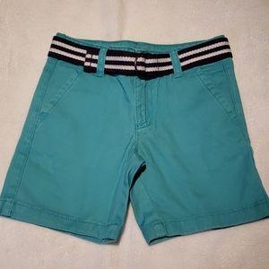 NWOT - Teal Shorts w/ Striped Navy Belt